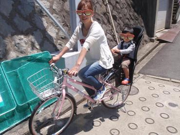 自転車教室 子供を乗せる